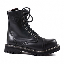 Angry Itch - 8-Loch Gothic Punk Army Ranger Armee Leder Stiefel mit Stahlkappe 36-48 - Made in EU!, EU-Größe:47 - 3