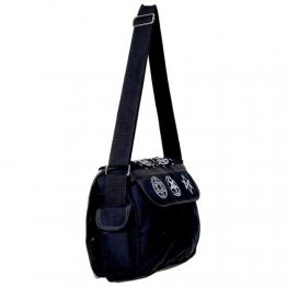Banned Unisex Okkult Schultertasche - Mystic Symbols Handtasche Schwarz - 1