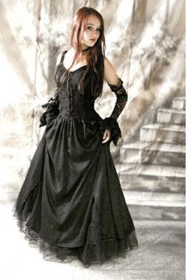 Dark Dreams Gothic Mittelalter LARP Kleid Melinda, Größe:XXL;Farbe:schwarz - 1