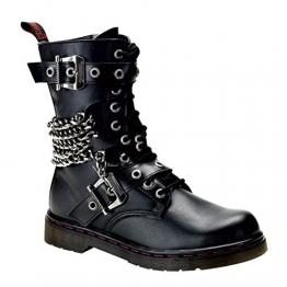 Demonia Disorder-204 - vegane Gothic Metal Punk Industrial Ranger Stiefel 36-48, US-Herren:38 (US-M6) - 1