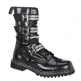 Demonia Gravel-10S - Gothic Punk Industrial Ranger Stiefel Schuhe 36-46, US-Herren:43 (US-M10) - 1