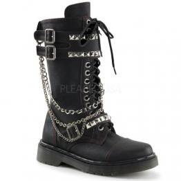 Demonia Rage-315 Gothic Punk Industrial Ranger Stiefel Boots mit Nieten 36-42 - 1