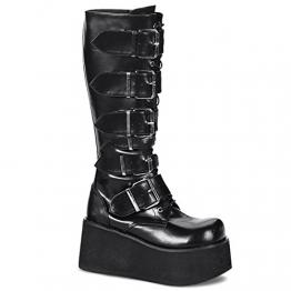 Demonia Trashville-518 - Gothic Punk Industrial Plateau Stiefel Schuhe 36-46, US-Herren:38 (US-M6) - 1