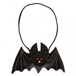 Fledermaus Handtasche Gothic Tasche schwarz Vampir Täschchen Damenhandtasche Halloween Kostüm Zubehör - 1