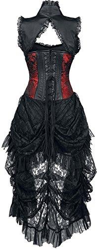 Burleska Isabella Kleid schwarz/rot M - 1
