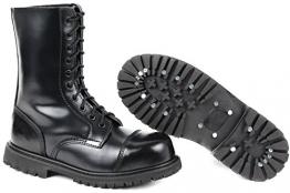 10 Loch UK Gothic Boots Springerstiefel 11,Schwarz - 1