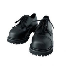 3 Loch Rangers Boots Stiefel mit Stahlkappe Farbe Schwarz oder Bordeaux Schnürschuh 44/10,Schwarz - 1