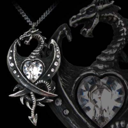 Alchemy Gothic Diamond Heart Kette - 1