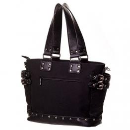 Banned Gothic Damen Handtasche - Schultertasche Handschellen, Nieten und Schnallen - 1