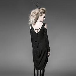 Damen Tunika Shirtkleid langarm Pullover von Punk Rave Gothic PT-025 - 1