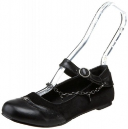 Demonia Ballerina Flats Daisy-07 Samt schwarz Gr. 43 - 1