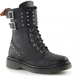 Demonia Rage-309 Gothic Punk Industrial Ranger Stiefel Boots mit Nieten 36-42 - 1