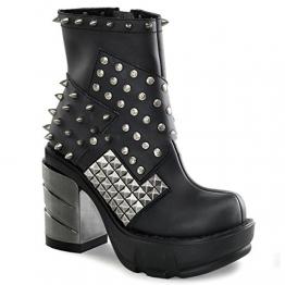 Demonia Sinister-64 - Gothic Industrial Metall High Heels Stiefelette Schuhe 36-43, Größe:EU-37 / US-7 / UK-4 - 1
