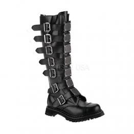 Demonia Stiefel Reaper-30 Leder schwarz Gr. 42 - 1