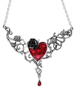 Alchemy Gothic Blood Rose Heart Halskette Standard - 1