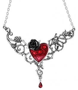 Alchemy Gothic Blood Rose Heart Halskette Standard - 1