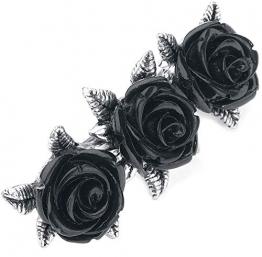 Alchemy Gothic Wild Black Rose Haarspange silberfarben - 1