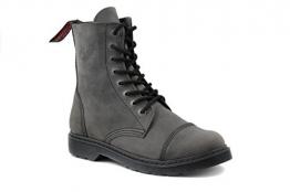 Angry Itch - 8-Loch Light Stiefel aus herrlich weichem grauem Vintage Leder 36-45 - Made in EU!, EU-Größe:EU-42 -