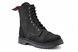 Angry Itch - 8-Loch Light Stiefel aus herrlich weichem schwarzem Vintage Leder 36-45 - Made in EU!, EU-Größe:40 -