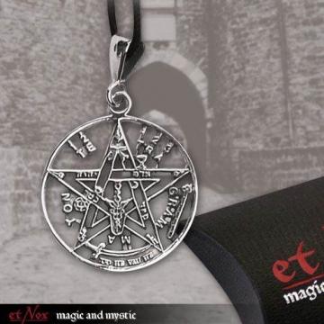 Anhänger Tetragrammaton Magischer 925er Silber Schmuck - Schutzamulett - 3