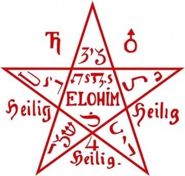 Anhänger Tetragrammaton Magischer 925er Silber Schmuck - Schutzamulett - 5
