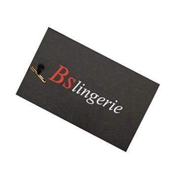 Bslingerie Damen Gothic viktorianischen Brokat Korsett Vintage-Stil schwarz weiß violett (XXL, schwarz) - 2