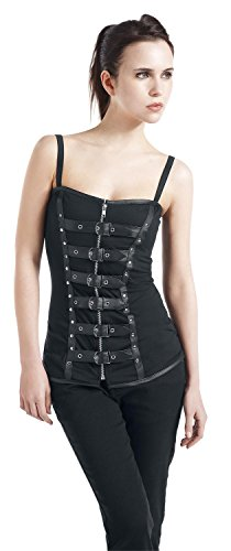 Burleska Biker Girl-Top schwarz XL - 1