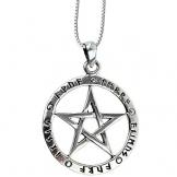 DarkDragon Anhänger Runen Pentagramm der 5 Elemente Keltischer 925er Silber Schmuck - Schutz - mit Kette Halskette Silberkette Schmucksäckchen und Karte 1009 - 1