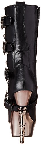 Demonia Damen MUERTO-1026 Kurzschaft Stiefel, Schwarz (Blk Vegan Leather/Pewter Chrome), 37 EU - 2