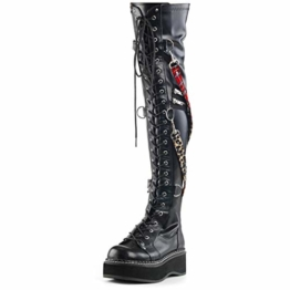 Demonia Damen Overknee Stiefel Emily-377 vegan Leather Gr.39 - 1