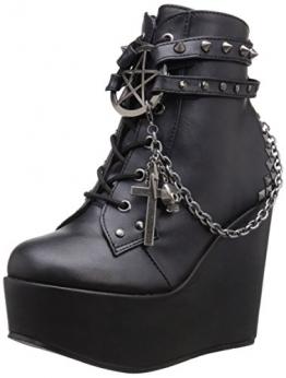 Demonia Damen Poison-101 Kurzschaft Stiefel, Schwarz (Schwarz (Blk Vegan Leather)), 39 EU - 1