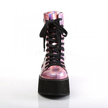Demonia Gothic Lolita Ankle Boots Grip-103 pink Holo Gr.37 - 2