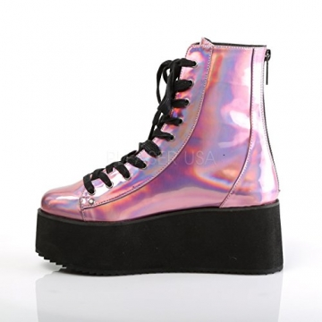 Demonia Gothic Lolita Ankle Boots Grip-103 pink Holo Gr.37 - 3