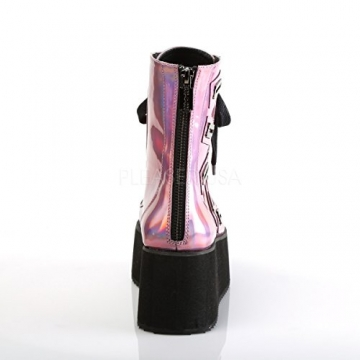 Demonia Gothic Lolita Ankle Boots Grip-103 pink Holo Gr.37 - 4