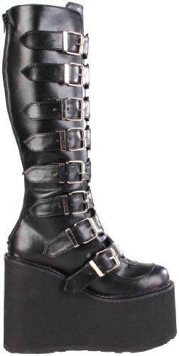 Demonia SWING-815, Damen Langschaft Stiefel, Schwarz (Schwarz (Blk Vegan Leather)), 38 EU (5 Damen UK) - 6