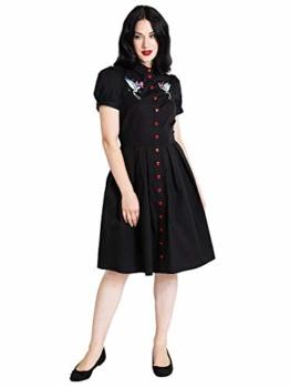 Hell Bunny Damen A-Linie Kleid JoJo Dress 4856 (Größe 44) - 1
