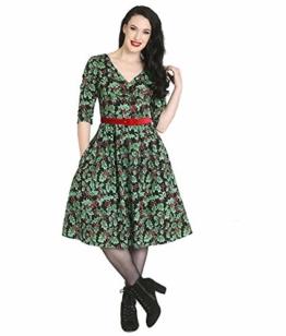 Hell Bunny Holly Berry 50er Weihnachten Kleid - Schwarz, UK 18 (2XL) - 1