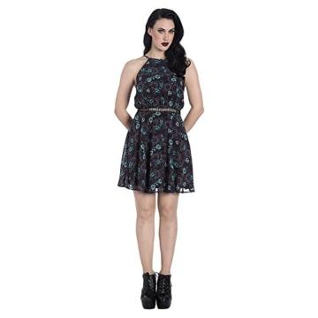 Hell Bunny Kleid Death's Head Dress 4821 (Größe 36, Grau) - 1