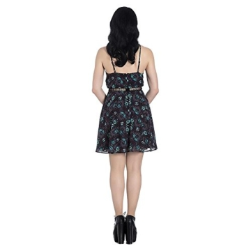 Hell Bunny Kleid Death's Head Dress 4821 (Größe 36, Grau) - 2