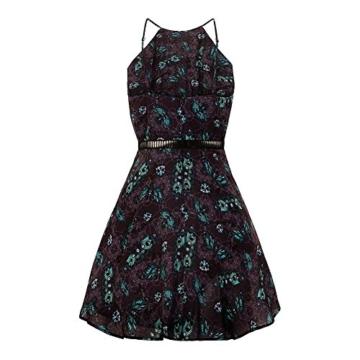 Hell Bunny Kleid Death's Head Dress 4821 (Größe 36, Grau) - 4