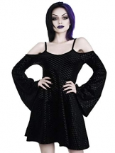 Killstar Kleid Black Sea Sorcerers Dress Schwarz XS - 1