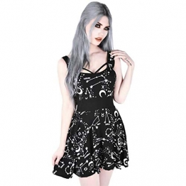 Killstar Sternenprint Skater Kleid - Milky Way S - 1