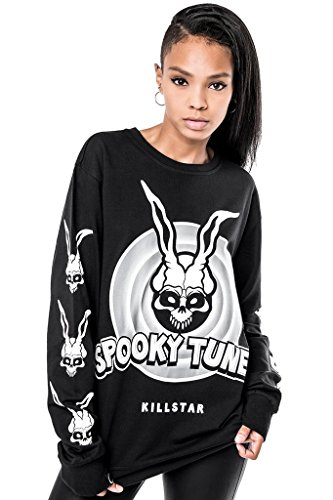 Killstar Unisex Pullover Spooky Tunes - Donnie Sweatshirt Damen/Herren XS - 1