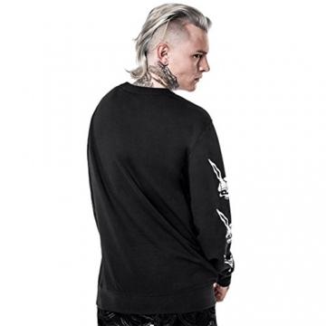 Killstar Unisex Pullover Spooky Tunes - Donnie Sweatshirt Damen/Herren XS - 4