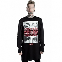 Killstar X Marilyn Manson Langarm Shirt - This Is Your World S - 1