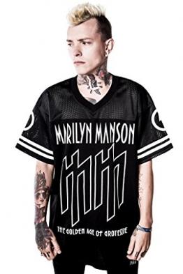 Killstar X Marilyn Manson Unisex T-Shirt - Ka-Boom Ka-Boom Hockey Jersey XXL - 1