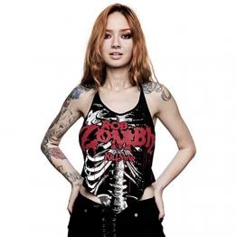 Killstar X Rob Zombie Neckholder Top - Foxy Bones XS - 1