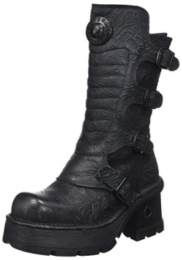 New Rock Damen M-373QX-S2 Biker Boots, Schwarz (Black 001), 38 EU - 1