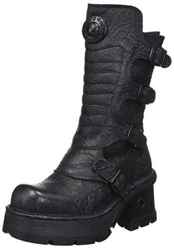 New Rock Damen M-373QX-S2 Biker Boots, Schwarz (Black 001), 38 EU - 1
