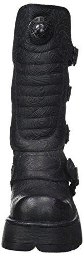 New Rock Damen M-373QX-S2 Biker Boots, Schwarz (Black 001), 38 EU - 4